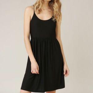 Garage Black Flare Mini Dress